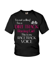 DIRT TRACK RACING GIRL - RACETRACK VOICE Youth T-Shirt thumbnail