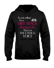 DIRT TRACK RACING GIRL - RACETRACK VOICE Hooded Sweatshirt thumbnail