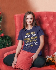 BARREL RACING LIFE BLESSED LIFE Ladies T-Shirt lifestyle-holiday-womenscrewneck-front-2