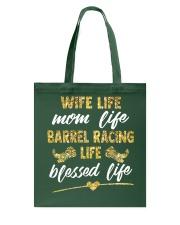 BARREL RACING LIFE BLESSED LIFE Tote Bag thumbnail