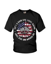 Good girl loves racing Youth T-Shirt thumbnail