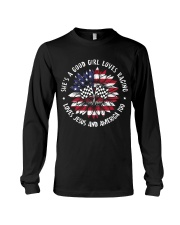 Good girl loves racing Long Sleeve Tee thumbnail