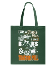 TRACTOR PULLING - SIMPLE MAN Tote Bag thumbnail