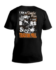 TRACTOR PULLING - SIMPLE MAN V-Neck T-Shirt thumbnail