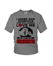 Grandma always love me Youth T-Shirt front