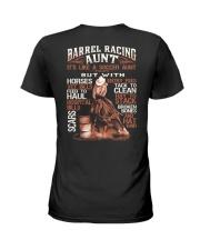 BARREL RACING AUNT Ladies T-Shirt back