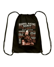 BARREL RACING AUNT Drawstring Bag thumbnail
