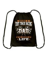 Dirt track racing Dad- meaning of life Drawstring Bag thumbnail