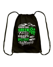 DIRT TRACK - WHEN THE GREEN FLAG DROPS Drawstring Bag tile