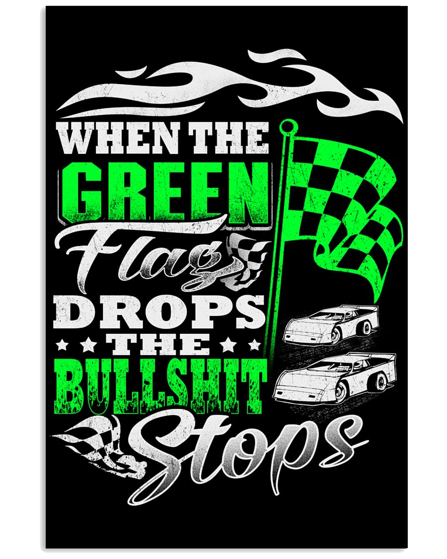 DIRT TRACK - WHEN THE GREEN FLAG DROPS 16x24 Poster