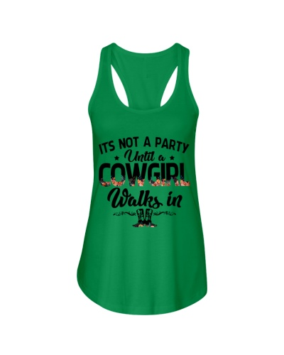 It's not a party until a cowgirl walks in