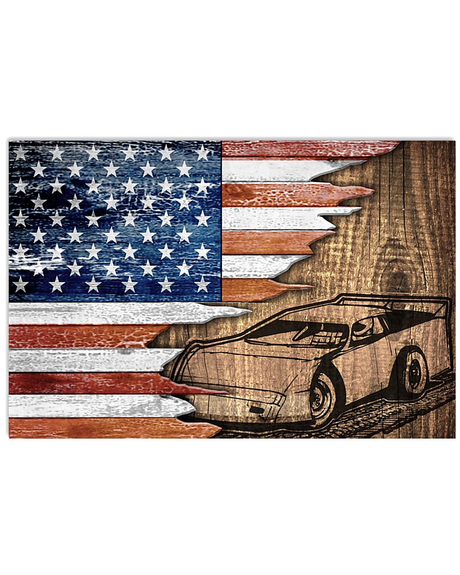 DIRT TRACK RACING US - POSTER 17x11 Poster