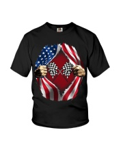 Dirt track racing US Youth T-Shirt thumbnail