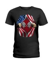 Dirt track racing US Ladies T-Shirt thumbnail
