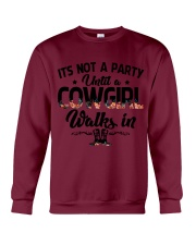 It's not a party until a cowgirl walks in Crewneck Sweatshirt thumbnail