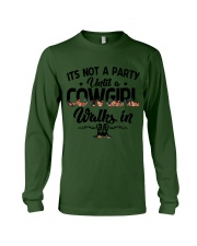 It's not a party until a cowgirl walks in Long Sleeve Tee thumbnail