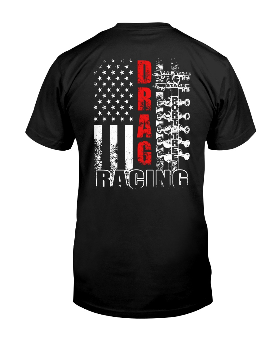 Drag Racing Flag Fourth of July Classic T-Shirt