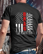 Drag Racing Flag Fourth of July Classic T-Shirt lifestyle-mens-crewneck-back-2