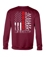 Drag Racing Flag Fourth of July Crewneck Sweatshirt thumbnail