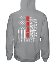 Drag Racing Flag Fourth of July Hooded Sweatshirt thumbnail