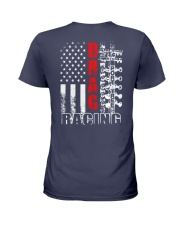 Drag Racing Flag Fourth of July Ladies T-Shirt thumbnail