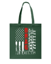 Drag Racing Flag Fourth of July Tote Bag thumbnail