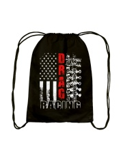 Drag Racing Flag Fourth of July Drawstring Bag thumbnail