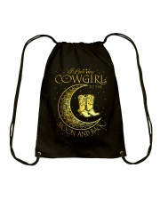 I love my cowgirl to the moon and back Drawstring Bag thumbnail