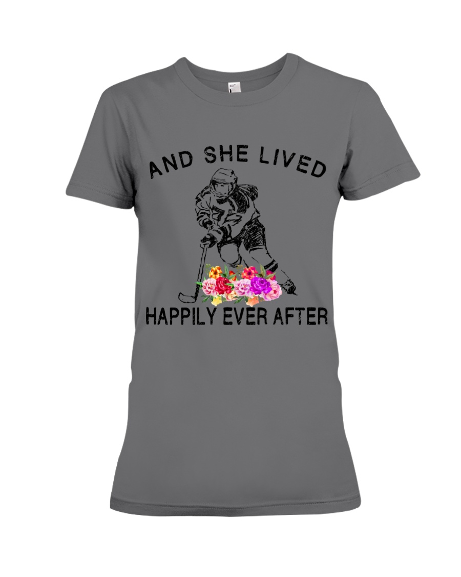 HOCKEY HAPPILY EVER AFTER Premium Fit Ladies Tee