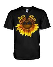 FLAG FLOWER  V-Neck T-Shirt thumbnail