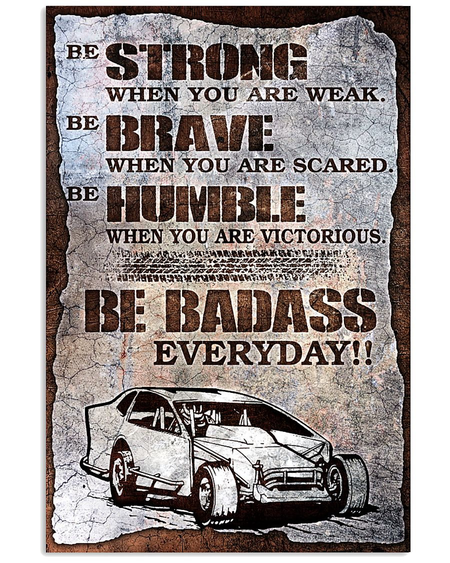 DIRT TRACK - BE STRONG 11x17 Poster