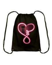 Love drag racing Drawstring Bag thumbnail