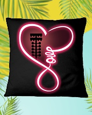Love drag racing Square Pillowcase aos-pillow-square-front-lifestyle-30