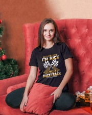 Dirt track racing nice Ladies T-Shirt lifestyle-holiday-womenscrewneck-front-2