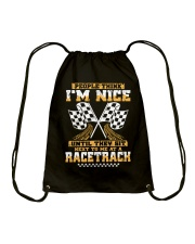 Dirt track racing nice Drawstring Bag thumbnail