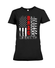 Drag racing flag Premium Fit Ladies Tee thumbnail