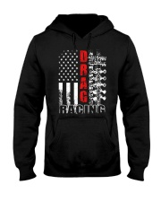 Drag racing flag Hooded Sweatshirt tile