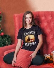 BARREL RACER GRANDMAS Ladies T-Shirt lifestyle-holiday-womenscrewneck-front-2