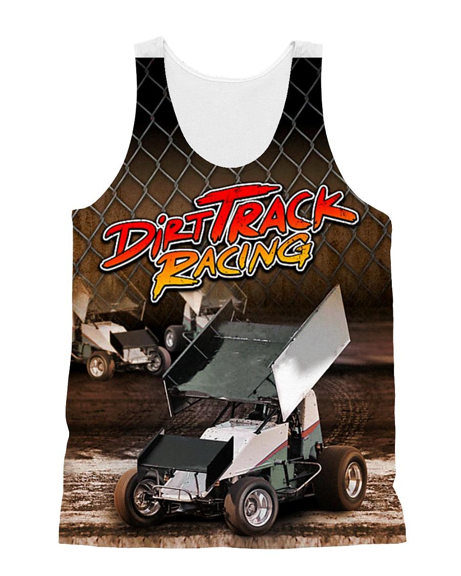 DIRT TRACK RACING SPRINT CAR RACING 3D shirt All-over Unisex Tank