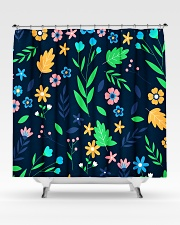 Colorful ditsy floral Shower Curtain aos-shower-curtains-71x74-lifestyle-front-02