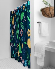 Colorful ditsy floral Shower Curtain aos-shower-curtains-71x74-lifestyle-front-03