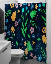 Colorful ditsy floral Shower Curtain aos-shower-curtains-71x74-lifestyle-front-04