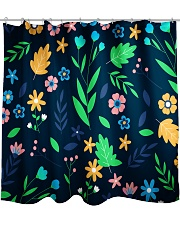 Colorful ditsy floral Shower Curtain front