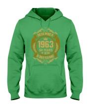 1963 December Hooded Sweatshirt front