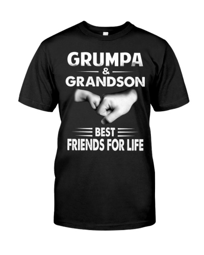 GRUMPA AND GRANDSON BEST FRIENDS FOR LIFE