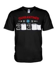 Senior Funny Quarantined Class Of 2020 Graduation V-Neck T-Shirt tile