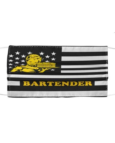 Flag American Bartender Cloth Face