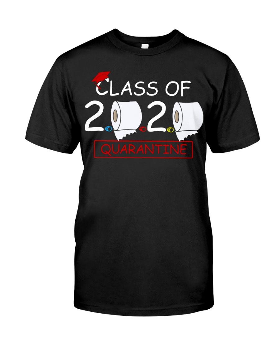 Class of 2020 Quarantined Seniors Flu Virus Quara Classic T-Shirt