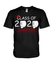 Class of 2020 Quarantined Seniors Flu Virus Quara V-Neck T-Shirt thumbnail