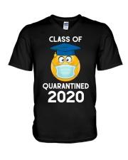 Funny Class Of 2020 Graduating Class In Quarantine V-Neck T-Shirt thumbnail